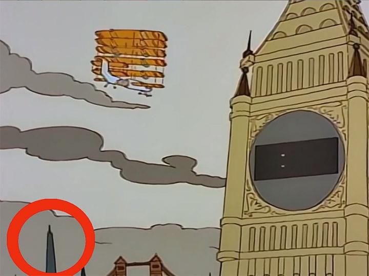 پیش بینی برج شارد لندن سیمپسون ها