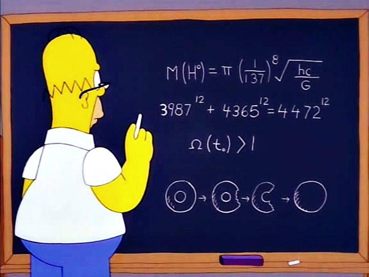 پیش بینی معادله ذره بوزون هیگز سیمپسون ها