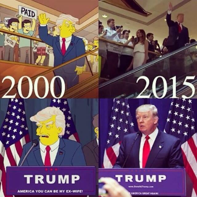 پیش بینی ریاست جمهوری ترامپ سیمپسون ها