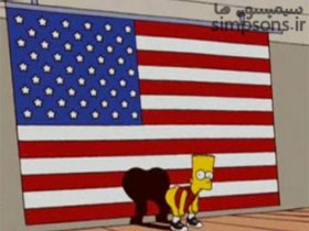 بارت و توهین به پرچم